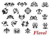 Floral ornamental elelments and vignettes — Stock Vector