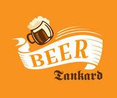 Brewery poster with beer tankard — Vector de stock