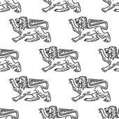 Great heraldic lion seamless — Stock Vector