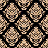 Beige colored floral seamless pattern — Vector de stock