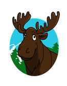 Cartoon moose or elk — Stock Vector