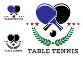 Set of table tennis emblems — Stock Vector
