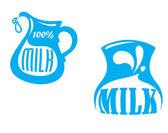 Milk emblems and symbols — Stock Vector