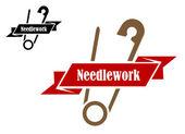 Safety pin sewing symbol — Stock Vector
