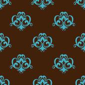 Retro azure seamless pattern — Stock Vector