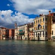 Beautiful buildings on main canal of Venice — Stock Photo