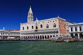 Campanile and doge palace — Stock Photo