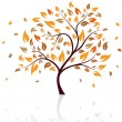 Autumn tree — Stock Vector
