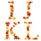 秋のカエデの葉の手紙 — ストックベクタ