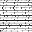 Grunge white and black brick wall background — Stock Vector