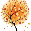 Autumn maples — Stock Vector