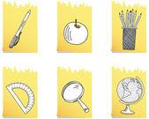 Set of school icon — Stock Vector