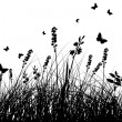Meadow silhouettes — Stockvector #12236115