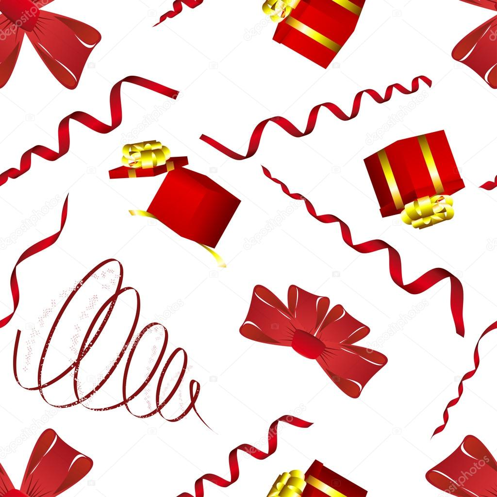 Seamless christmas and new year elements background. Vector illustration. — Stock Vector #12236110