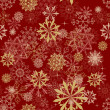 Seamless snowflakes background - Grafika wektorowa