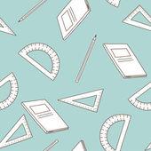 School seamless — Stock Vector