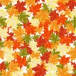 Maples leaves seamless — Imagen vectorial