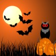 Royalty-Free Stock Imagen vectorial: Happy halloween card