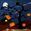 Happy halloween card — Imagen vectorial