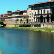 Ponte(bridge) Vecchio in Florence on Arno river. Italy. Europe. - Stok fotoraf