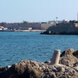 Rhodes city port. Rhodes island. Greece. - Stok fotoraf