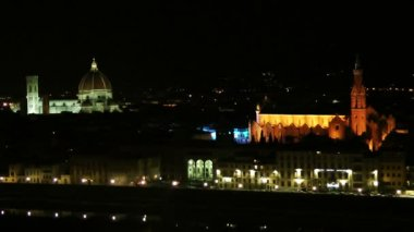 Historical center of Florence — Stok video