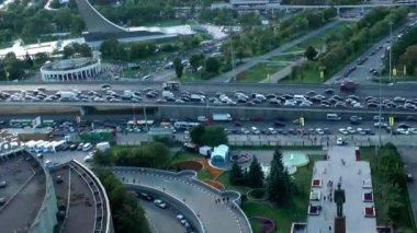 Autostrada ruch — Wideo stockowe