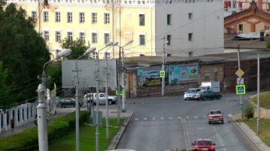 Urban street transport. — Stock Video