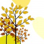 Autumn greeting doodle card — Stock Vector