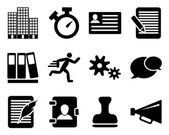 Office and bussines icon set — Stock Vector