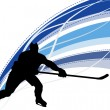 Постер, плакат: Hockey player silhouette