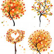 Set of four autumn tree — Stock Vector #12904157