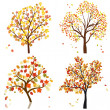 Set of four autumn tree — Stock Vector #12904158
