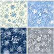 Seamless snowflakes background — Stock Vector #12904303