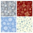 Seamless snowflakes background — Stock Vector #12904311