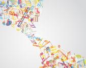 Notes de musique multicolores — Vecteur