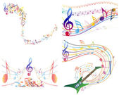 Multicolour musical — Stock Vector