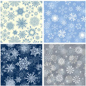 Seamless snowflakes background — Wektor stockowy