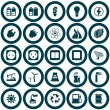 Power and energy icon set - Stock Vector