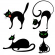 Halloween cats — Vector de stock