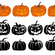 Pumpkin set — Stock Vector #13248800