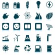 Power and energy icon set — Stock Vector