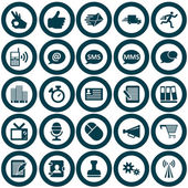 Office pictogrammenset — Stockvector