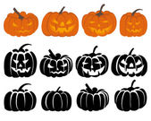 Pumpkin set — Vecteur