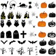 Halloween icon set — Vector de stock