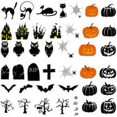 Icono de halloween set — Vector de stock