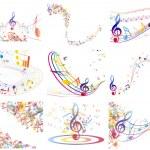 Multicolour musical — Stock Vector
