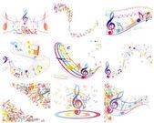 Meerkleurige muzikale — Stockvector