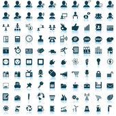 Set di icone di affari e ufficio — Vettoriale Stock