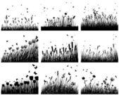 Nine meadow background — Stock Vector